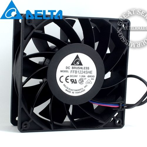 120 120 38mm Ffb1224she Br00 12038 24v 1 20a Wind Turbine Fan For