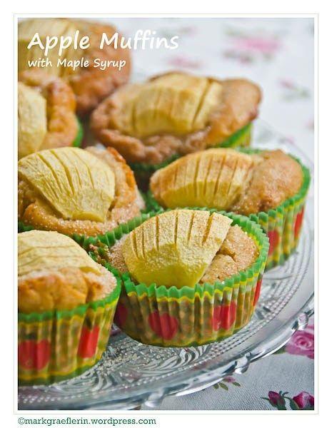 Apple Muffins (with maple syrup) – Apfel Muffins mit Ahornsirup #apfelmuffinsrezepte