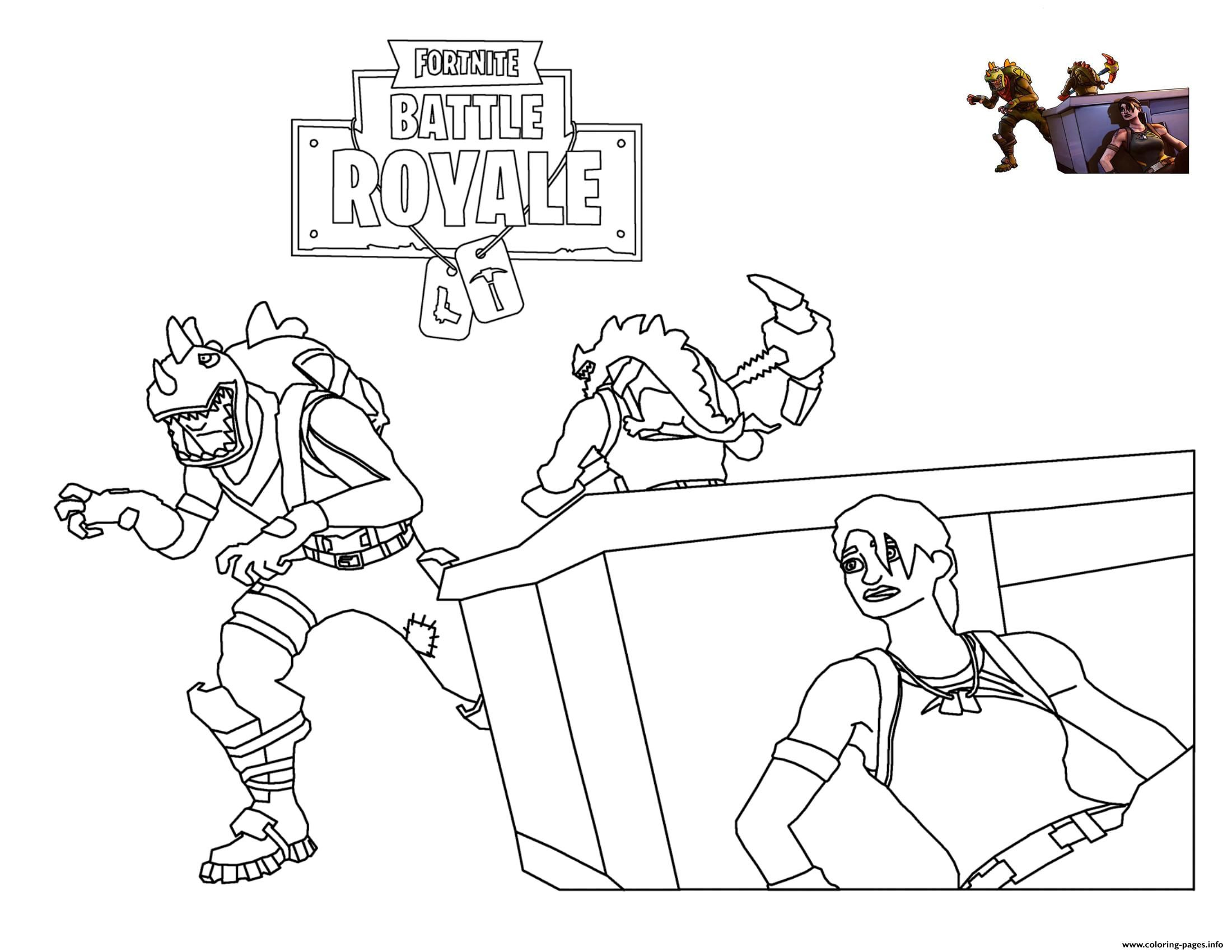 Print Rex Loading Screen Fortnite Coloring Pages