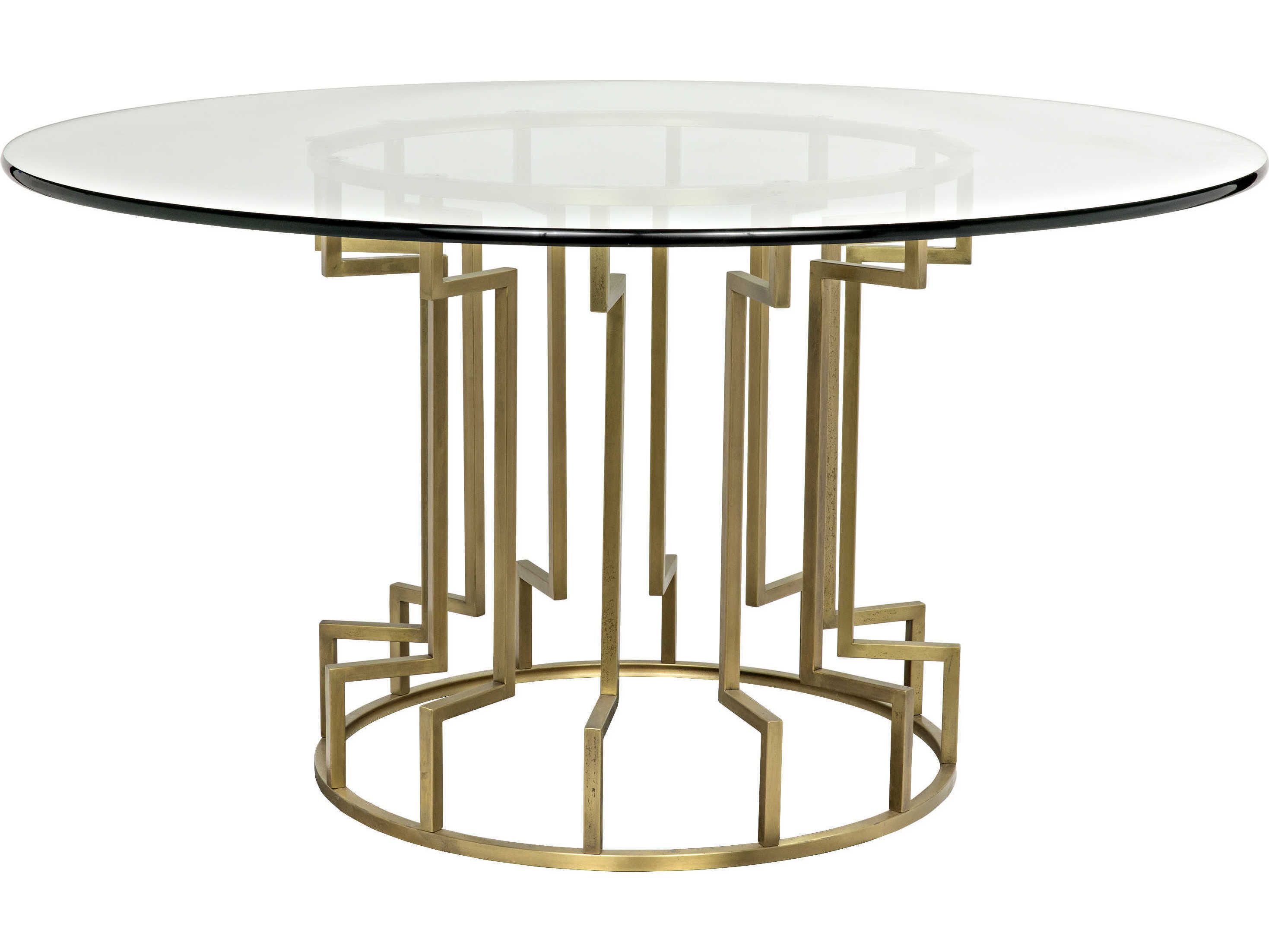 Noir Furniture Spool Gold 60 Round Dining Table 60 Round
