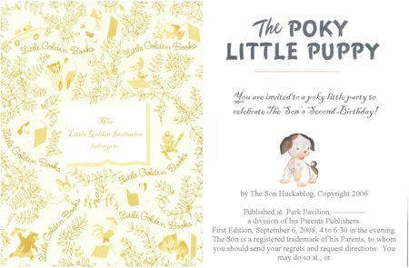 poky little puppy birthday party