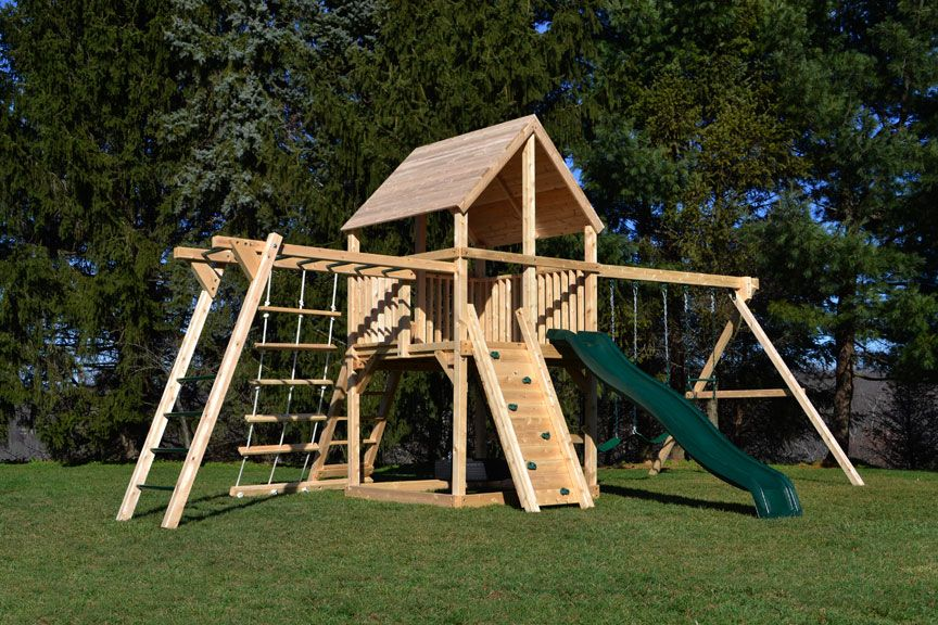 Triumph Play System S Bailey Wooden Swing Set With Tire