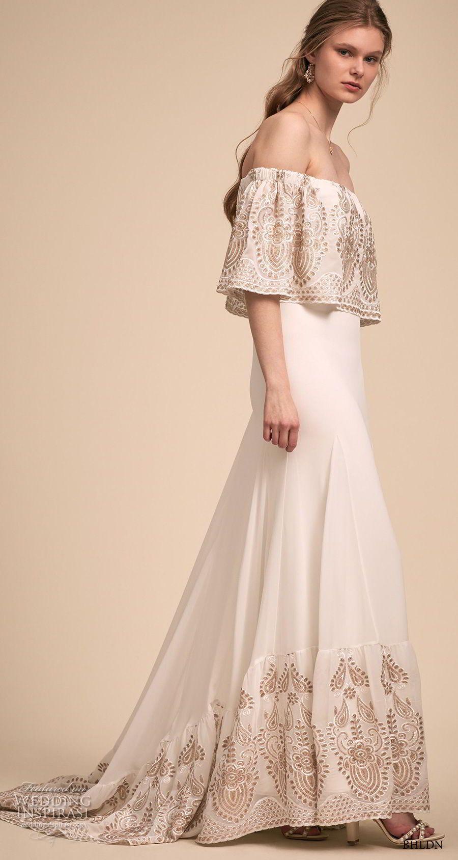 T-length lace wedding dresses november 2018 BHLDNus Designer Collective Exclusive Wedding Dresses u from the