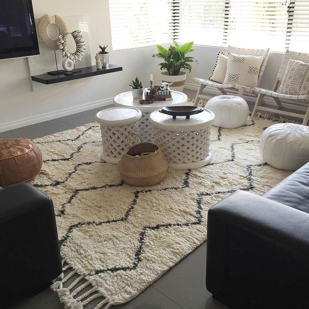 Boho Living Room Ft Our Souk Wool Rug