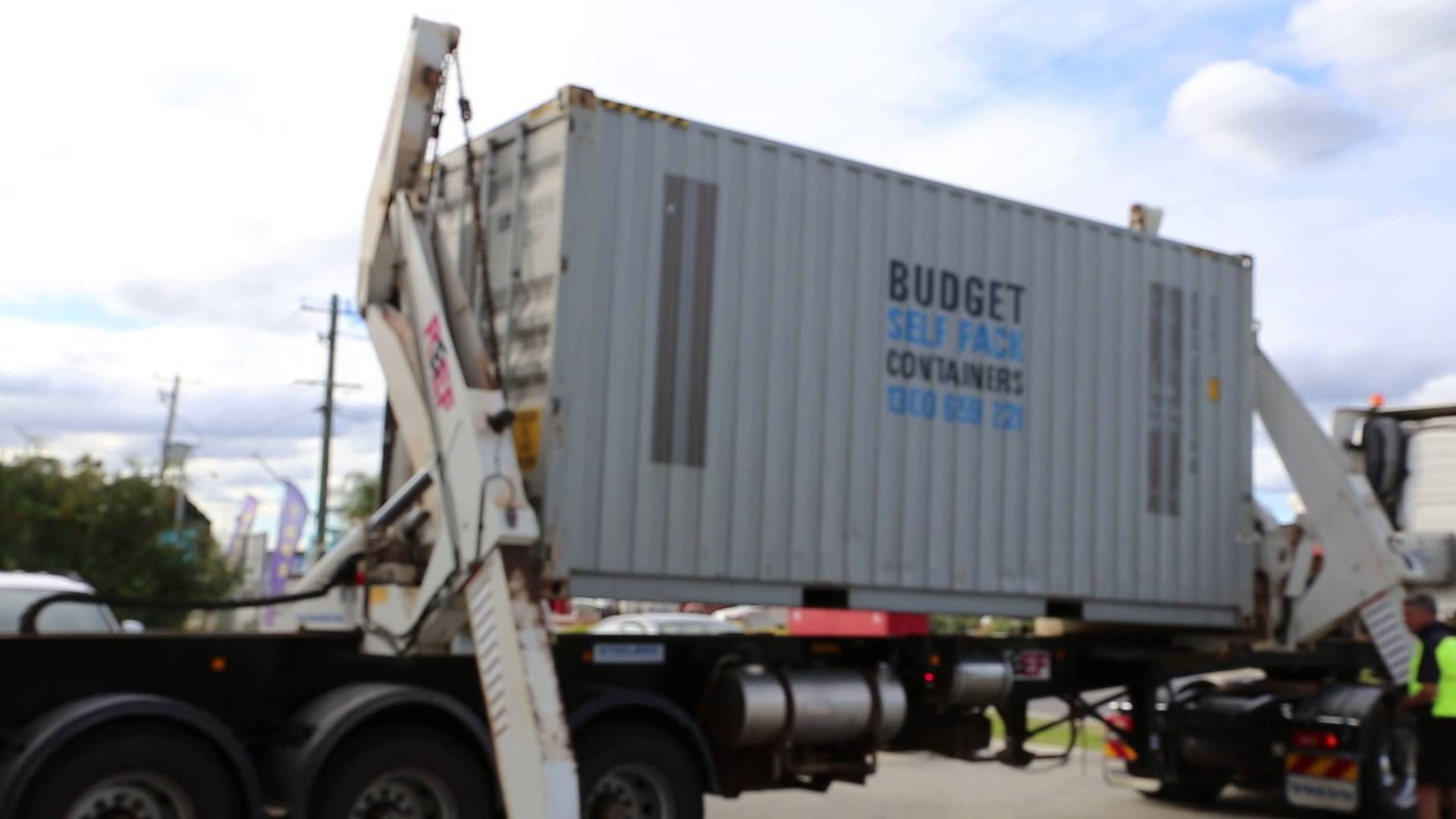 Interstate Removals Side Loader Moving Container Unload Perth How To Remove Packing To Move Moving