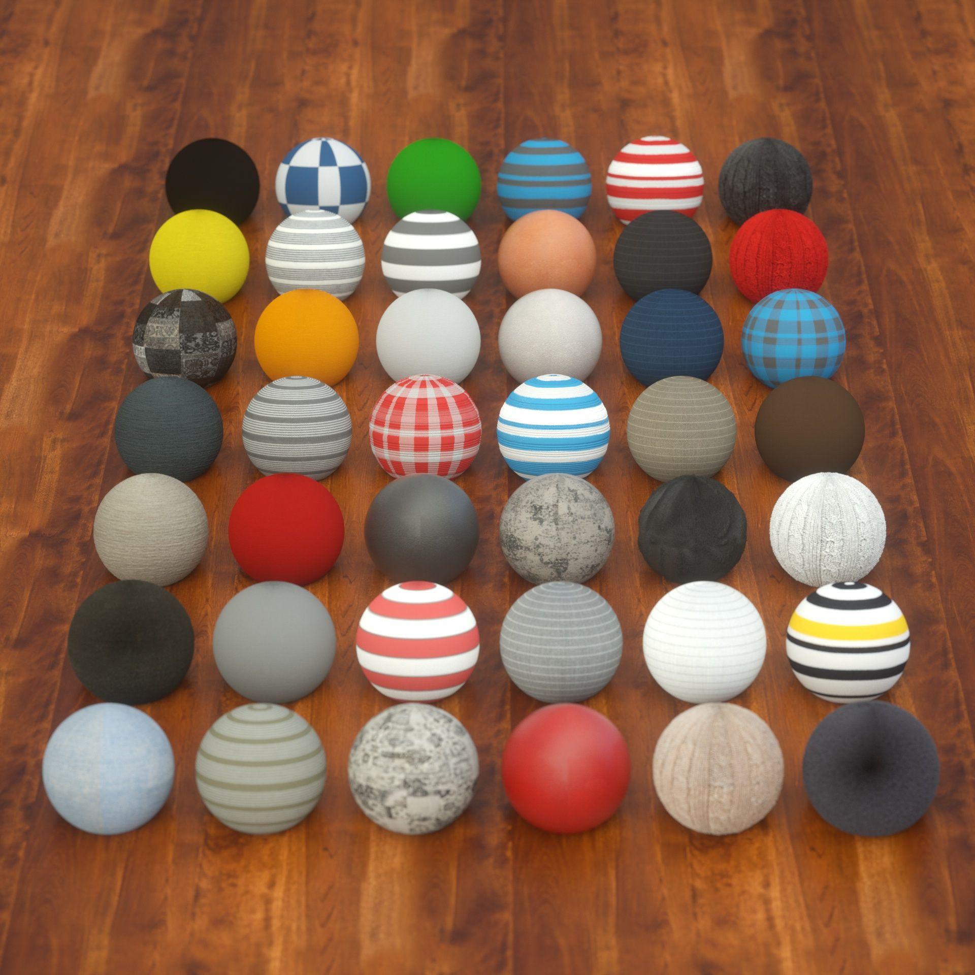 42 Fabric Materials for C4D Octane Render #Materials, #Fabric