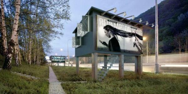 Designer Turning Billboards Into Tiny Houses For Homeless Homeless Housing Sheltered Housing Small House