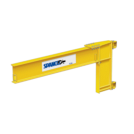 1 Ton Spanco 300 Series Wall Mounted Jib Crane Cantilever Crane Tool Room Building Columns