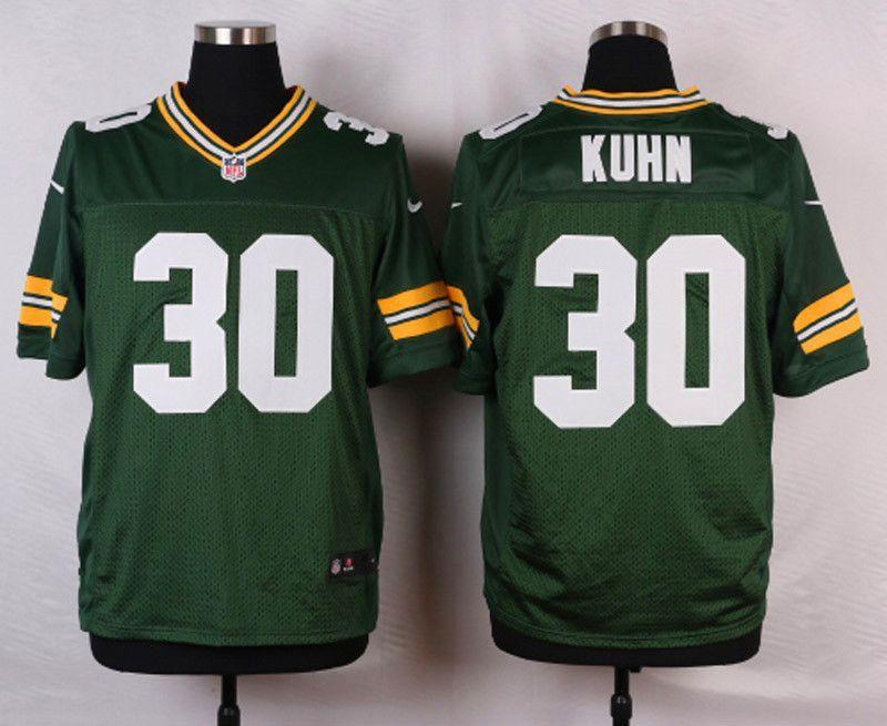 1b4670aaf97 NFL Customize Green Bay Packers 30 Kuhn Green Men Nike Elite Jerseys ...
