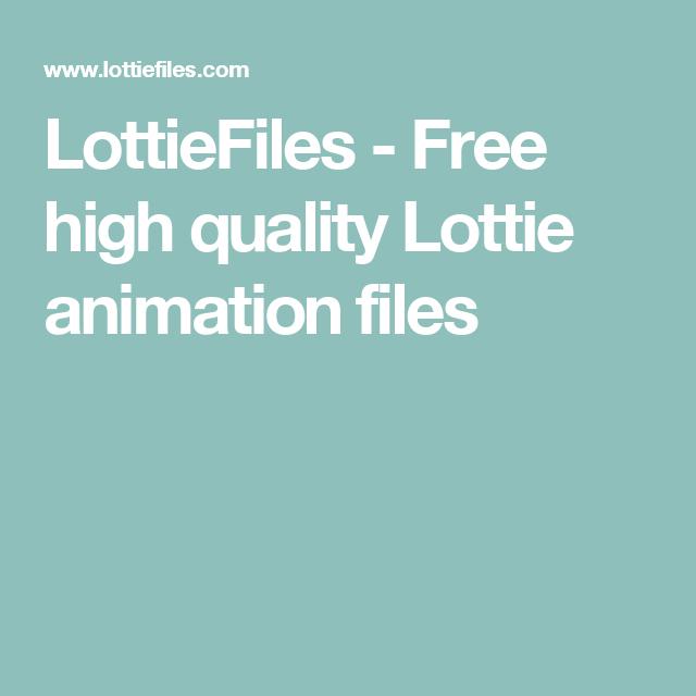 LottieFiles - Free high quality Lottie animation files   UI