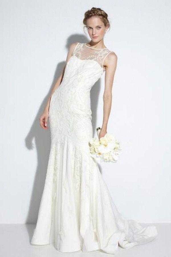 Nicole Miller Leigh Bridal Gown Wedding Dress Necklines Illusion Neckline Dress Illusion Neckline Wedding