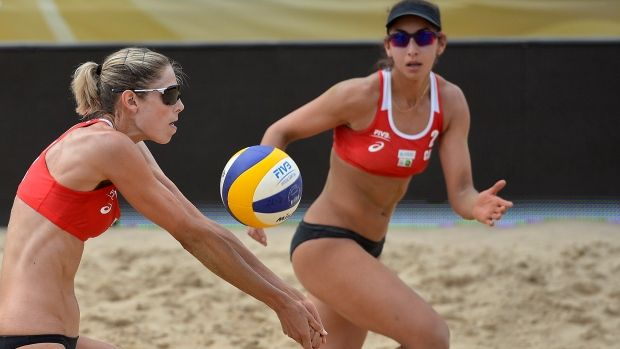 Trio Of Canadian Women S Beach Volleyball Teams Advance At Worlds Beach Volleyball Volleyball Volleyball Team