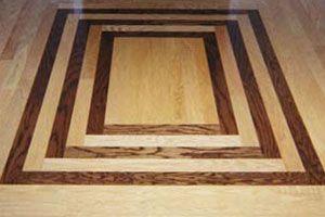 wood floor designs for entryways Custom Wood Flooring Borders