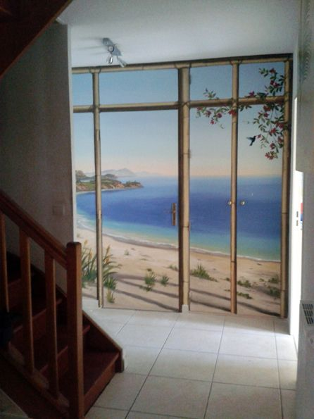 Portes de placards trompe lu0027oeil Pinterest - peinture porte et fenetre