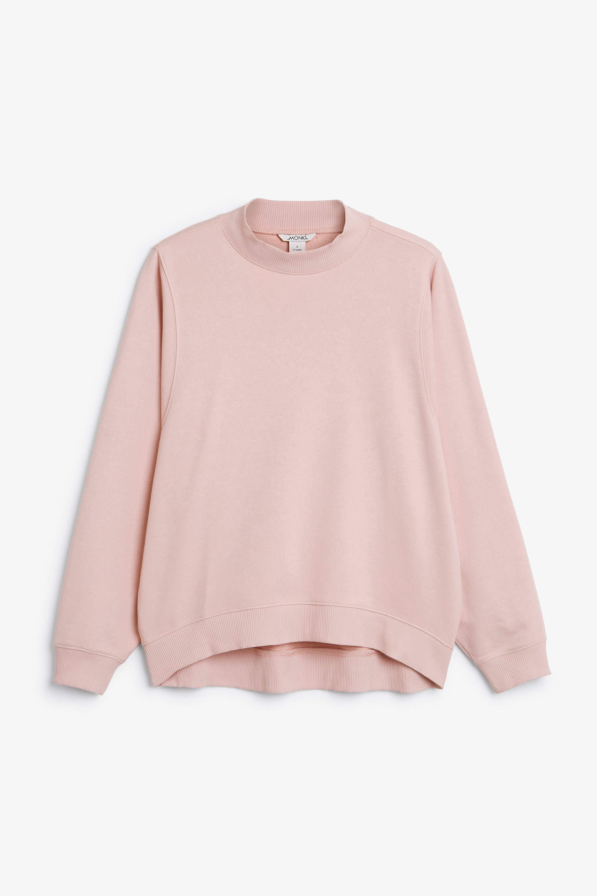 Monki Image 1 of Loose-fit sweater in Pink Yellowish Light | In ...