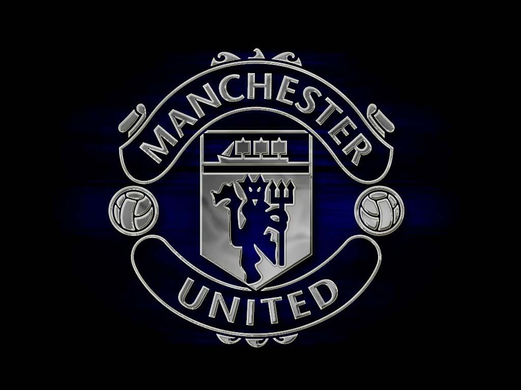Dark Manchester United Logo Wallpaper