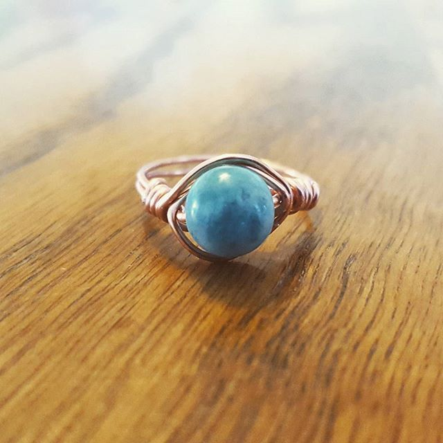 Took a shot at making wire wrapped rings today! Not too bad for a first try  This rose gold filled
