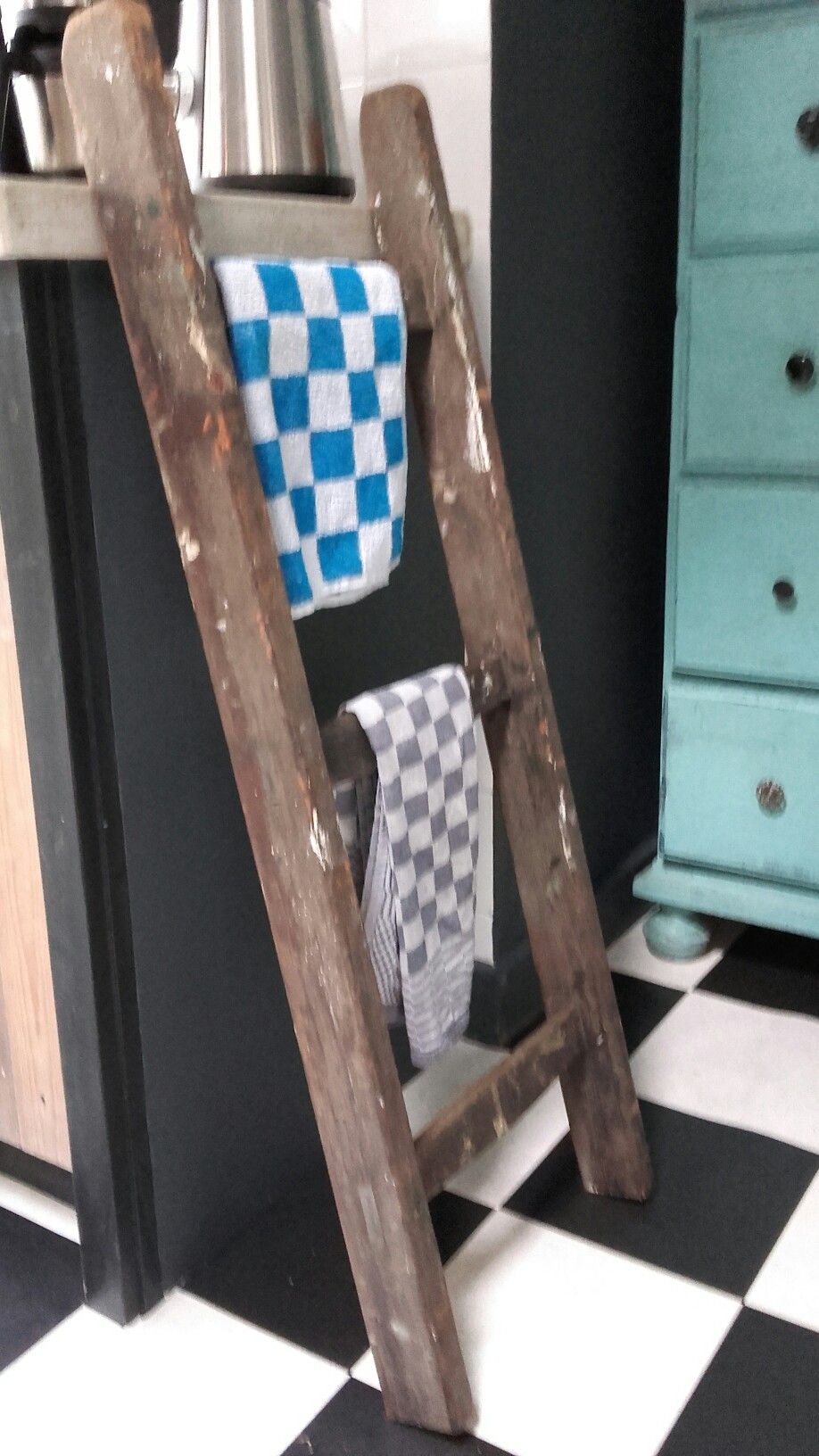 Handdoekenrek Ladder Handdoekenrek Ladder Kitchen Keuken Pinterest Ladders En