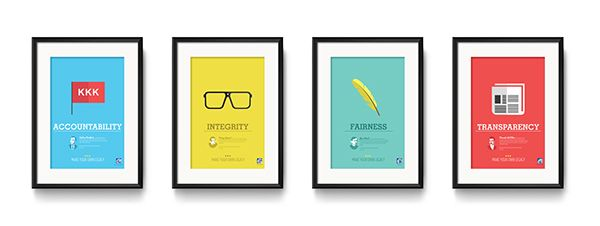 PLDT Core Values Posters on Behance | Core values ...