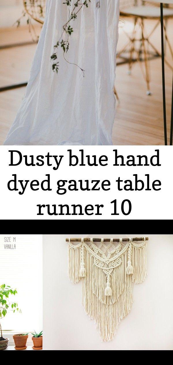 Dusty blue hand dyed gauze table runner 10 Dusty Blue Hand Dyed Gauze Table Runner Macrame Wall Hanging Large Macrame Wall Hanging Boho Macrame  Etsy 34 Boho Wedding Arch...