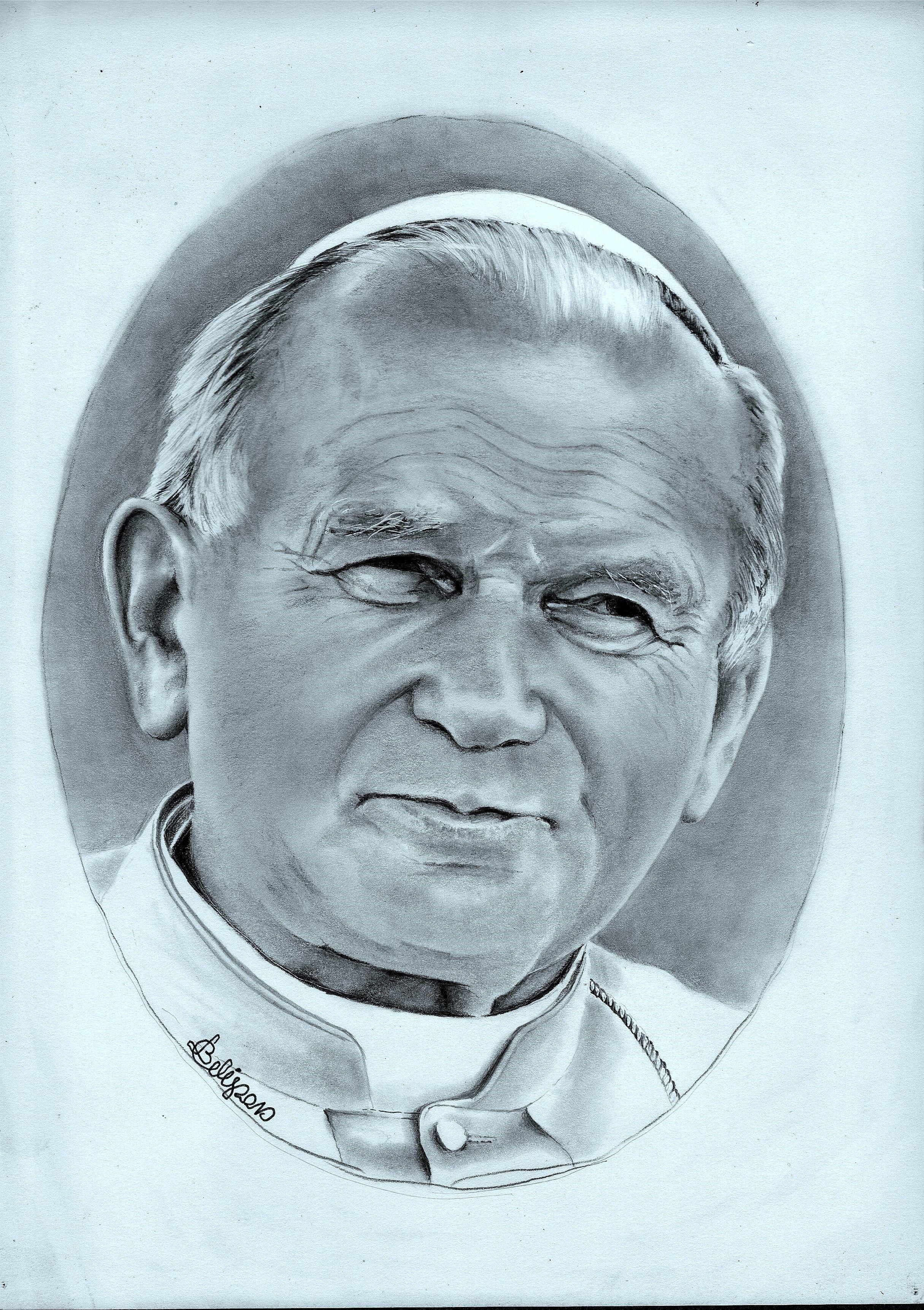Portret Jan Pawel Ii Rysunek Olowkiem Format A4 Pencil Drawing In 2020 Rysunek Rysunki Olowkiem Rysunki