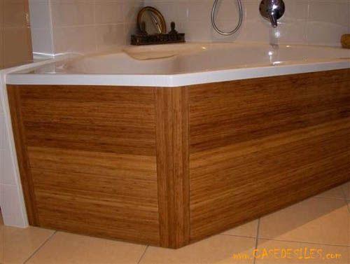 Coffrage boir baignoire d angle   Salle de bain, Bains