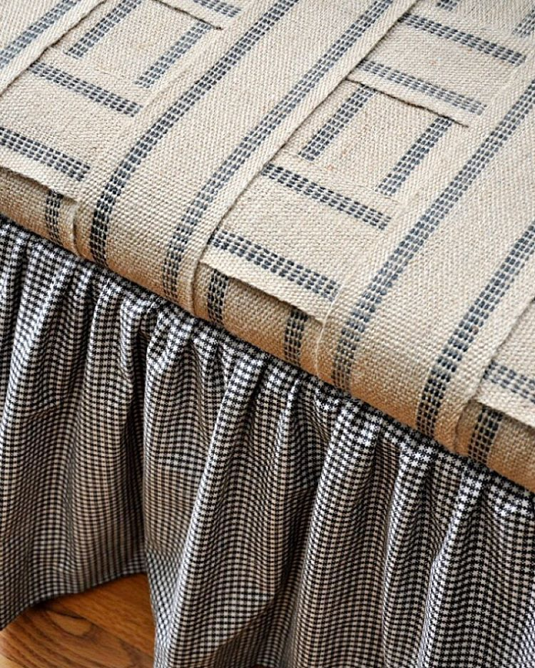 how to reupholster an ottoman without sewing
