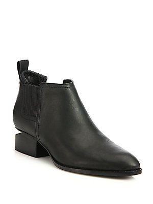 ffb25ec0ad28 Alexander Wang Kori Notch-Heel Leather Boots