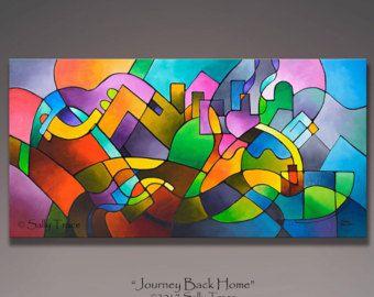 Gicl e anc la peinture abstraite peinture g om trique for Peinture moderne geometrique