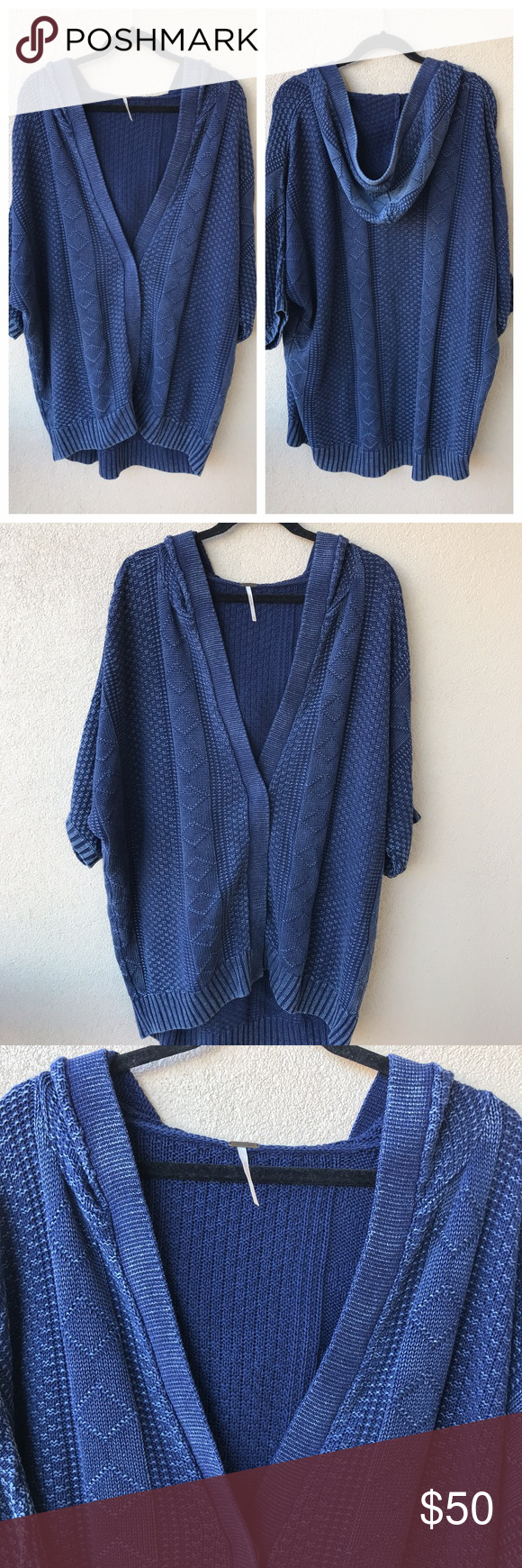 Free People Cable Knit Washed Out Cardi Sweater Chunky and cozy ...