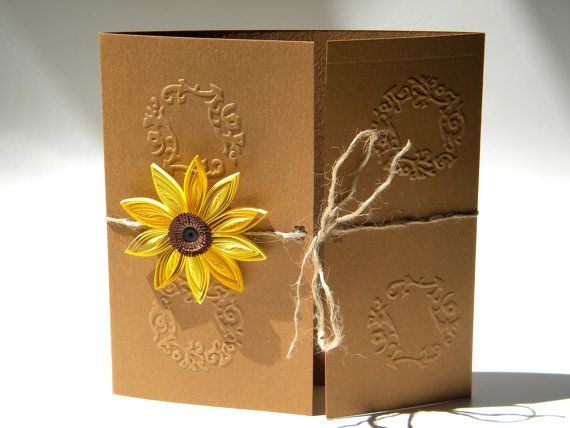 17 Best images about quilling – Sunflower Wedding Invites
