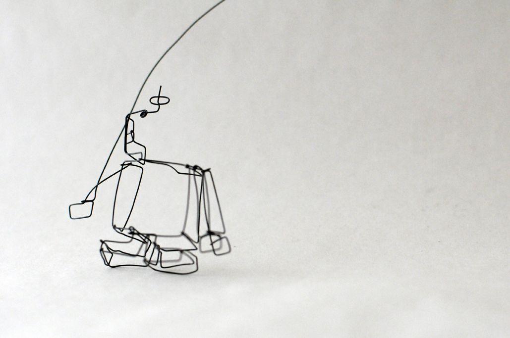 3d robot, wire sculpture   Jewelry   Pinterest   3d