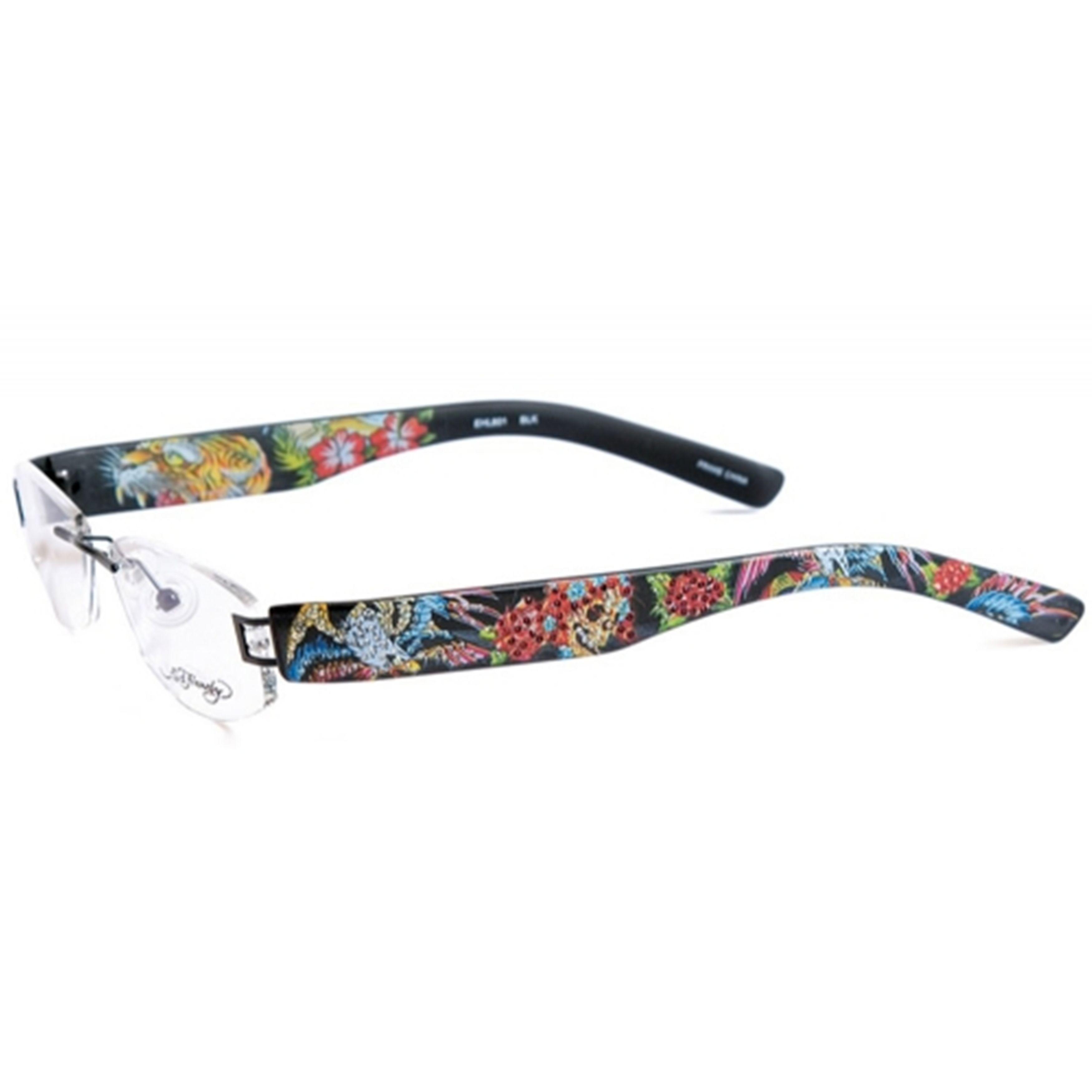 c935331045 Ed Hardy EHL-801 Adult s Lite Designer Eyeglasses