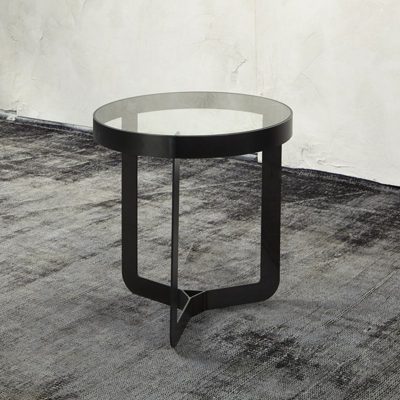 Spinder Design DOUGLAS Beistelltisch mit Glasablage Jetzt - wohnzimmer tische günstig