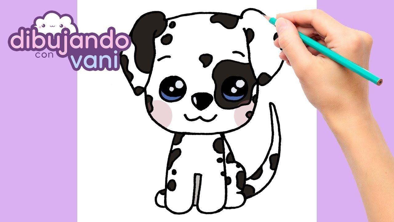 Como Dibujar Un Perro Dalmata Paso A Paso Dibujos Para Dibujar Dibuj Como Dibujar Un Perro Dibujos Kawaii De Animales Perro Dalmata