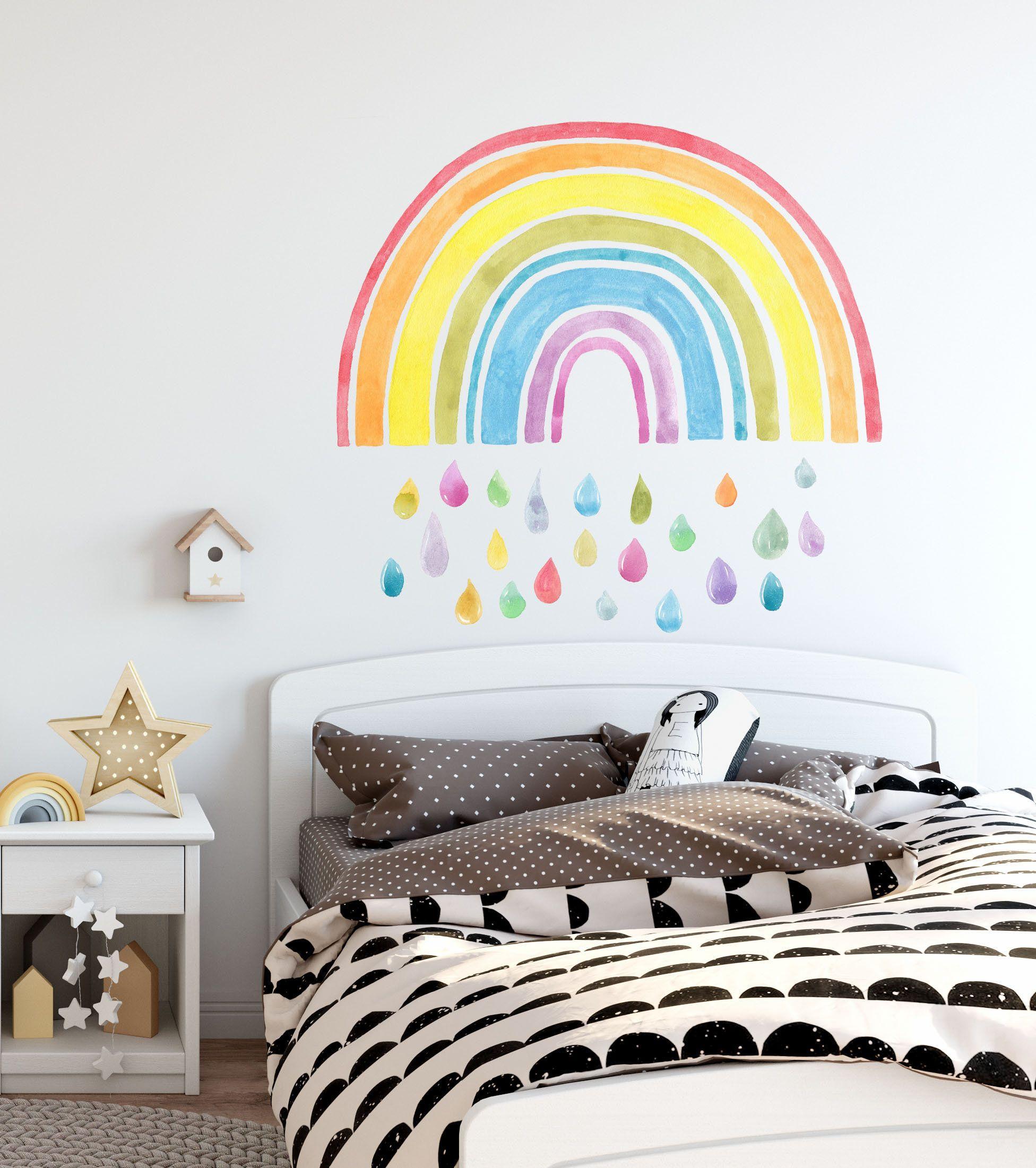Rainbow Wall Decals Rainbow Wall Decor Rainbow Wall Sticker Etsy Rainbow Wall Decor Rainbow Wall Decal Rainbow Wall Stickers