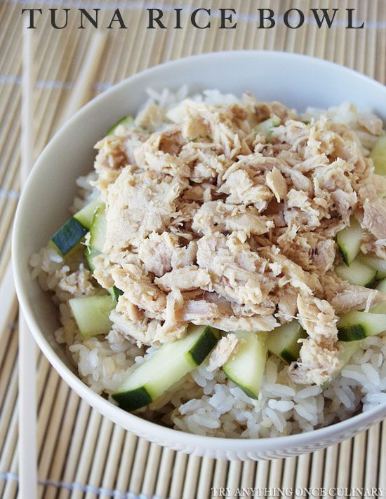 Tuna Rice Bowl Recipe Scrumptious Salads And Side Dishes
