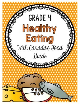 Grade 4 Unit 1 Healthy Eating With Canada S Food Guide Activity