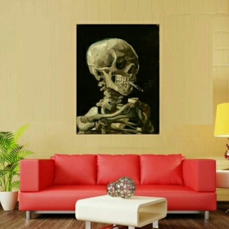 Smoked Out Skeleton Wall Art on Canvas **WORLDWIDE SHIPPING ...