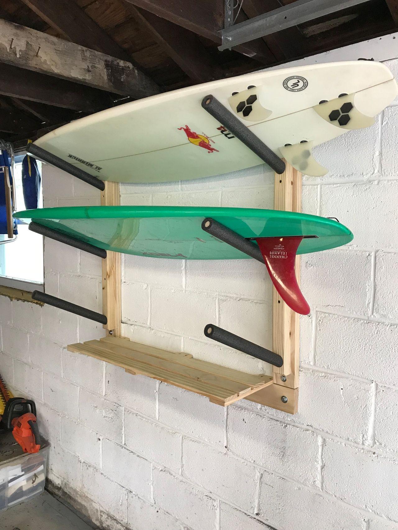 Surfboard Wall Rack Triple Wood Surf Rack Scorpion Basics