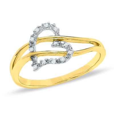 Zales Diamond Accent Heart Anniversary Band in 10K Gold 4T4QOLpZ