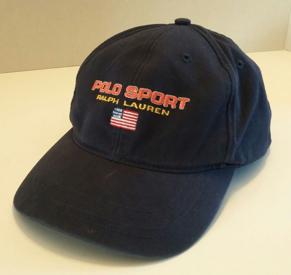 Cabelas Hats Caps: Polo Sport RALPH LAUREN Baseball Cap Hat FLAG Blue RN