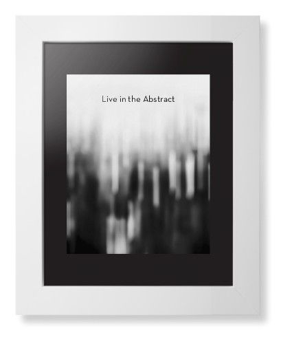 Black and White Bokeh Framed Print, White, Contemporary, None, Black, Single piece, 8 x 10 inches