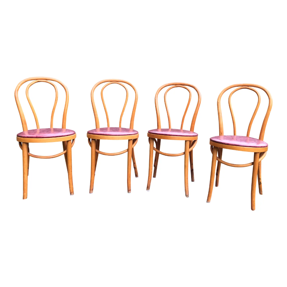 Vintage Mid Century Thonet Style Cafe Chairs Set Of 4 In 2020 Cafe Chairs Chair Boho Dining Chairs
