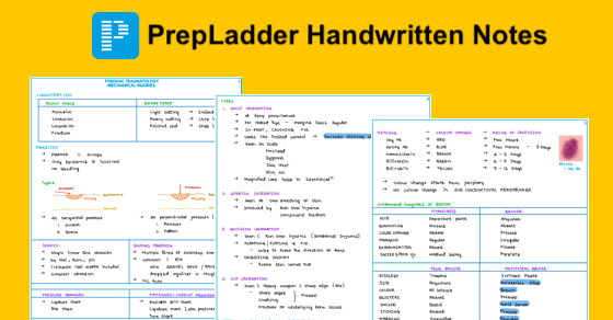 PrepLadder offers handwritten notes for specific subjects