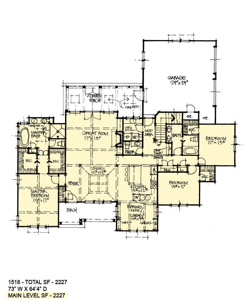 House Plan 1518 Modern Ranch House Plans Farmhouse New House Plans House Plans One Story