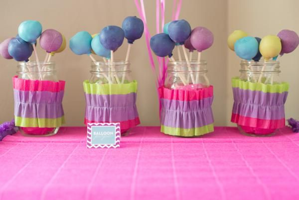 Balloon Cake Pops via karaspartyideascom Balloon Party Ideas