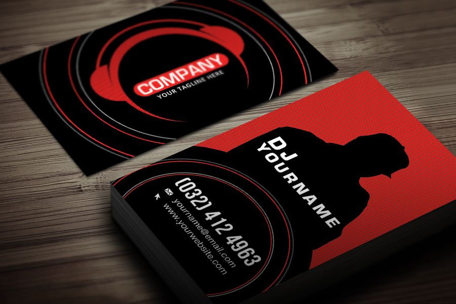 Dj business card template free business card template for Sample dj business cards