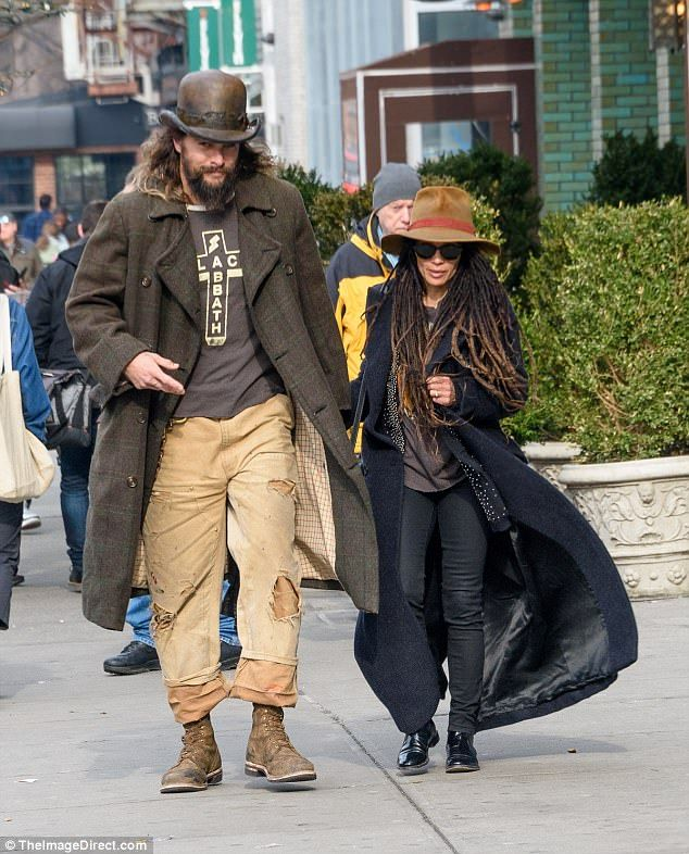 Jason Momoa Takes A Stroll With His Kids: Jason Momoa Teams Bowler Hat With Double Trousers