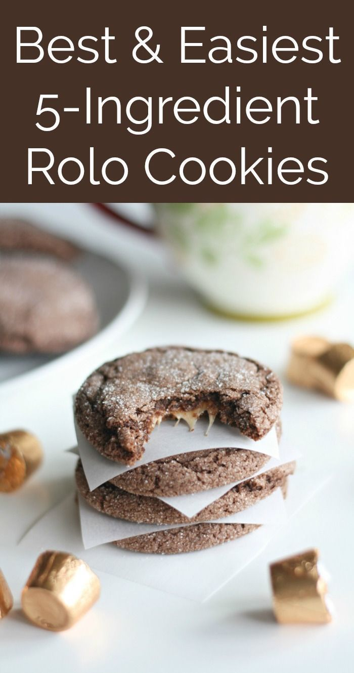 Christmas Desserts Pinterest.Five Ingredient Rolo Cookies